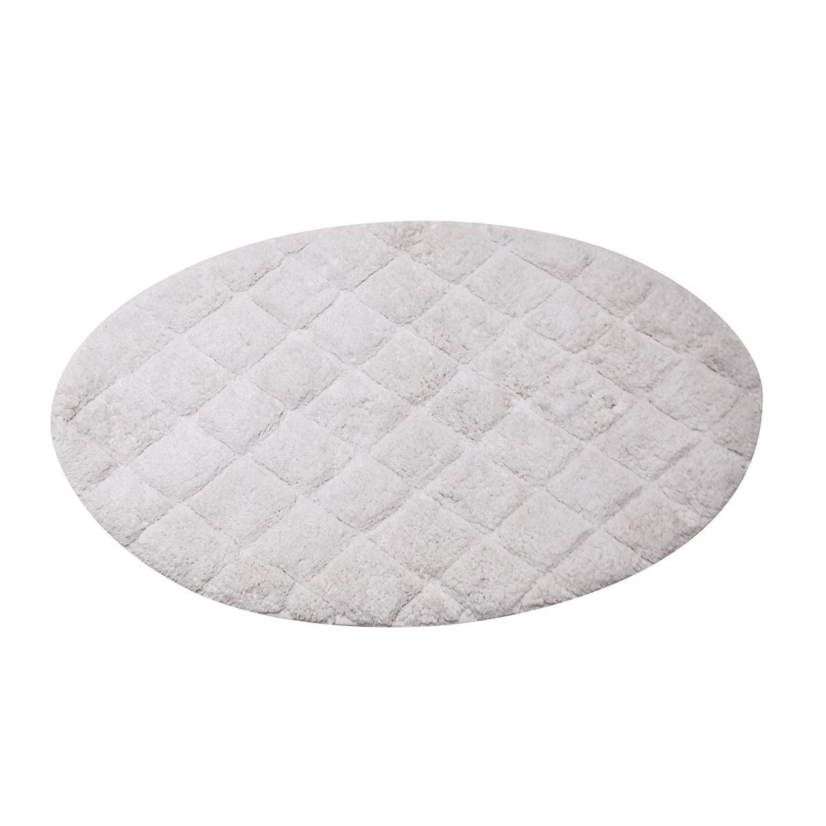 Tapis ovale à croisillons (Blanc)