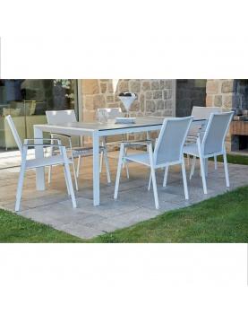 Ensemble de jardin en aluminium blanc