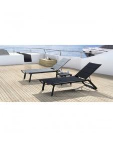 Bain de soleil design en aluminium et textile