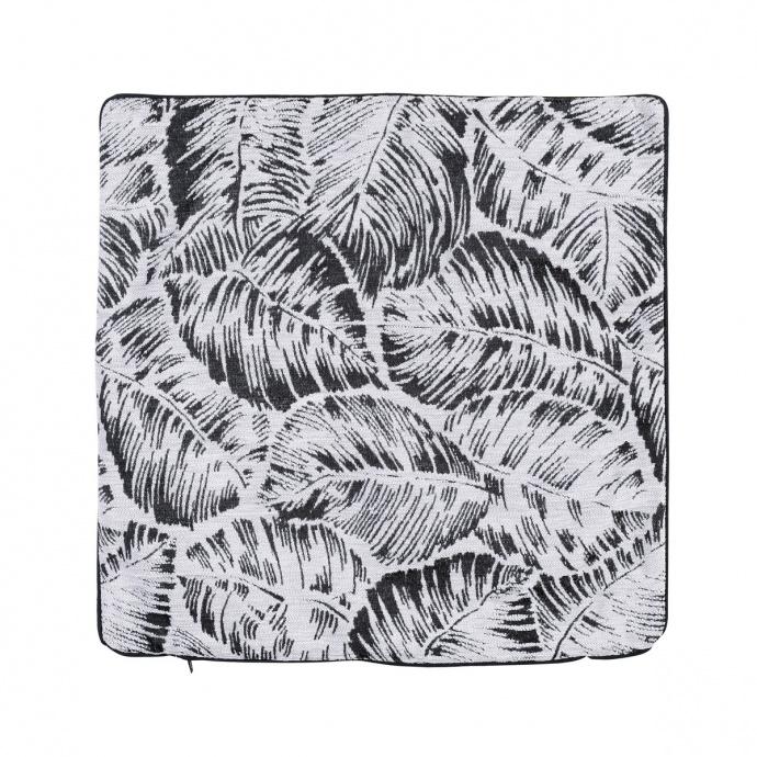 Housse de coussin esprit jungle tropicale (Naturel)