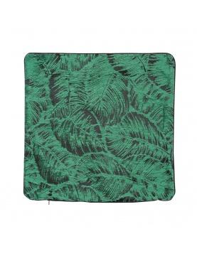 Housse de coussin esprit jungle tropicale