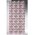 Rideau d'ameublement non feu M1 imprimé rosaces ( Multicolore)