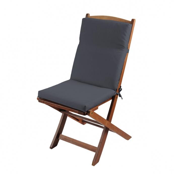 Coussin de fauteuil outdoor coloré (Anthracite)