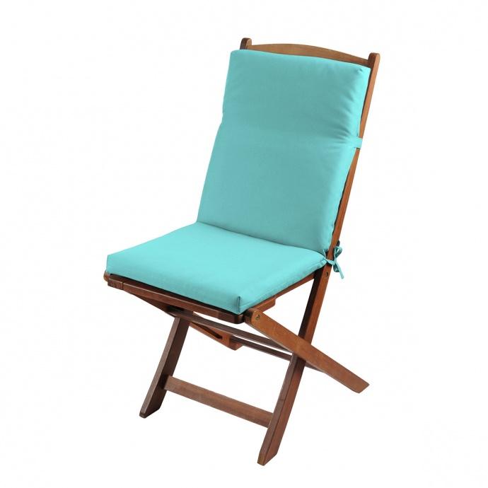 Coussin de fauteuil outdoor colorée (Lagon)