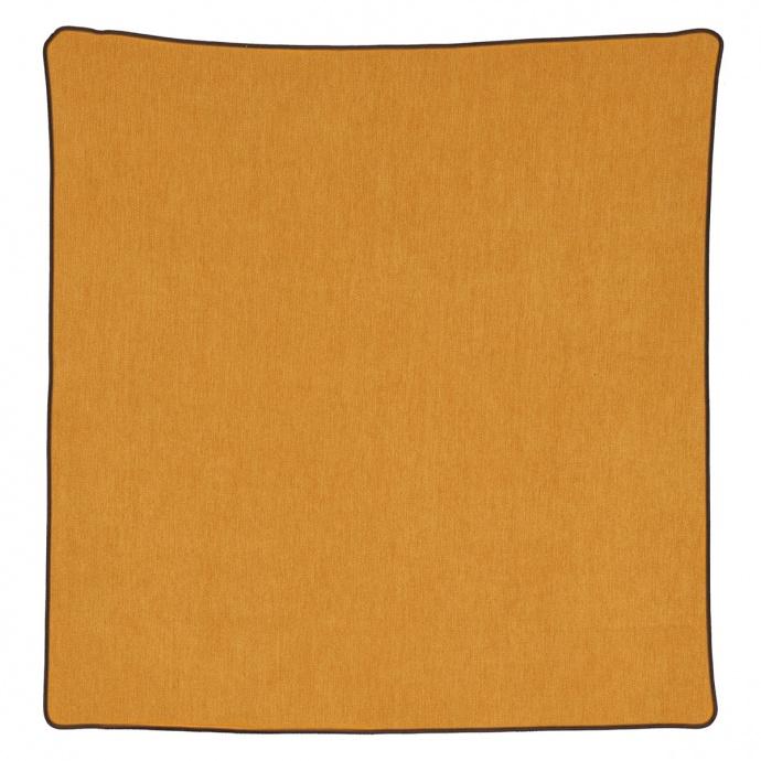 Housse de coussin passepoilée effet velours  (Orange)
