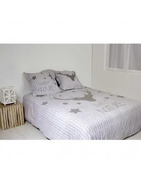 Parure de lit à effet grosse maille