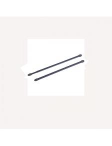 2 tringles pour vitrage à visser anthracite