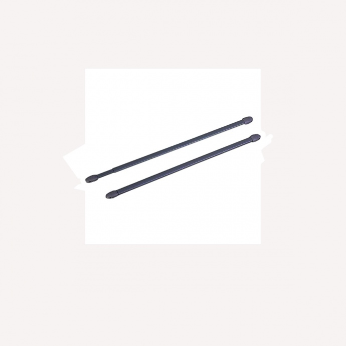 2 tringles pour vitrage à visser anthracite (Anthracite)