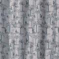Rideau tamisant imprimé palmiers (Vert)