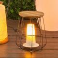Lampe de table à poser en acier et bois (Ocre)