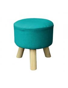 Tabouret en coton uni coloré
