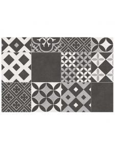 Tapis en vinyle imprimé patchwork géométrique