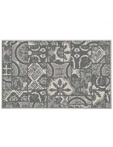 Tapis déco tissé et réversible patchwork géométrique