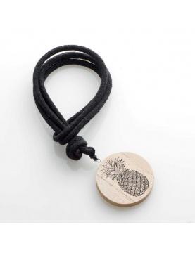 Embrasse en bois et corde noire