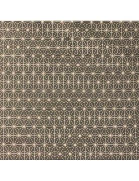 Tissu enduit à imprimés géométriques