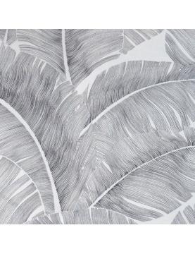Tissu non feu M1 imprimé feuilles de palmiers
