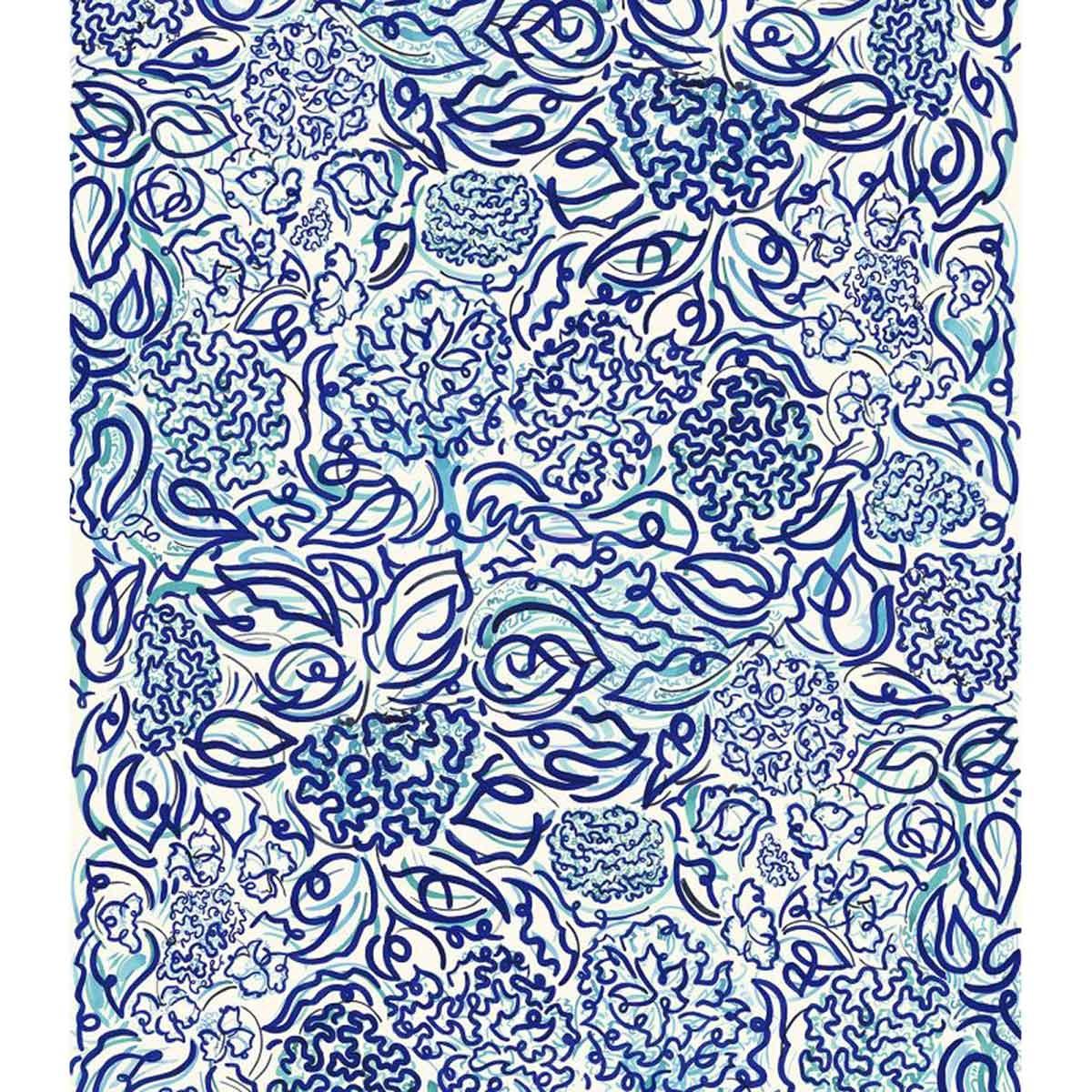 Tissu imprimé calligraphie moderne