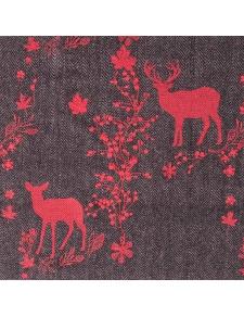 Tissu imprimé avec laine