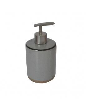 Distributeur de savon bicolore gris