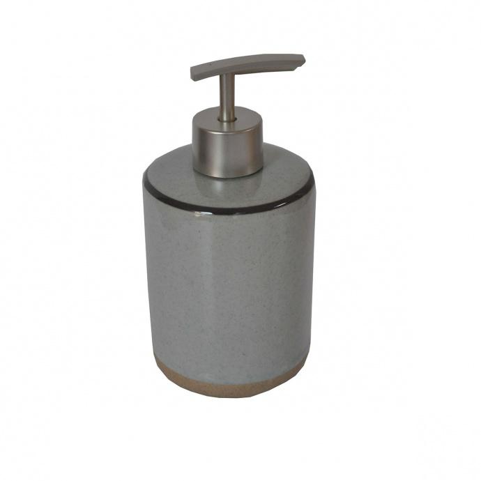 Distributeur de savon bicolore gris (Gris)