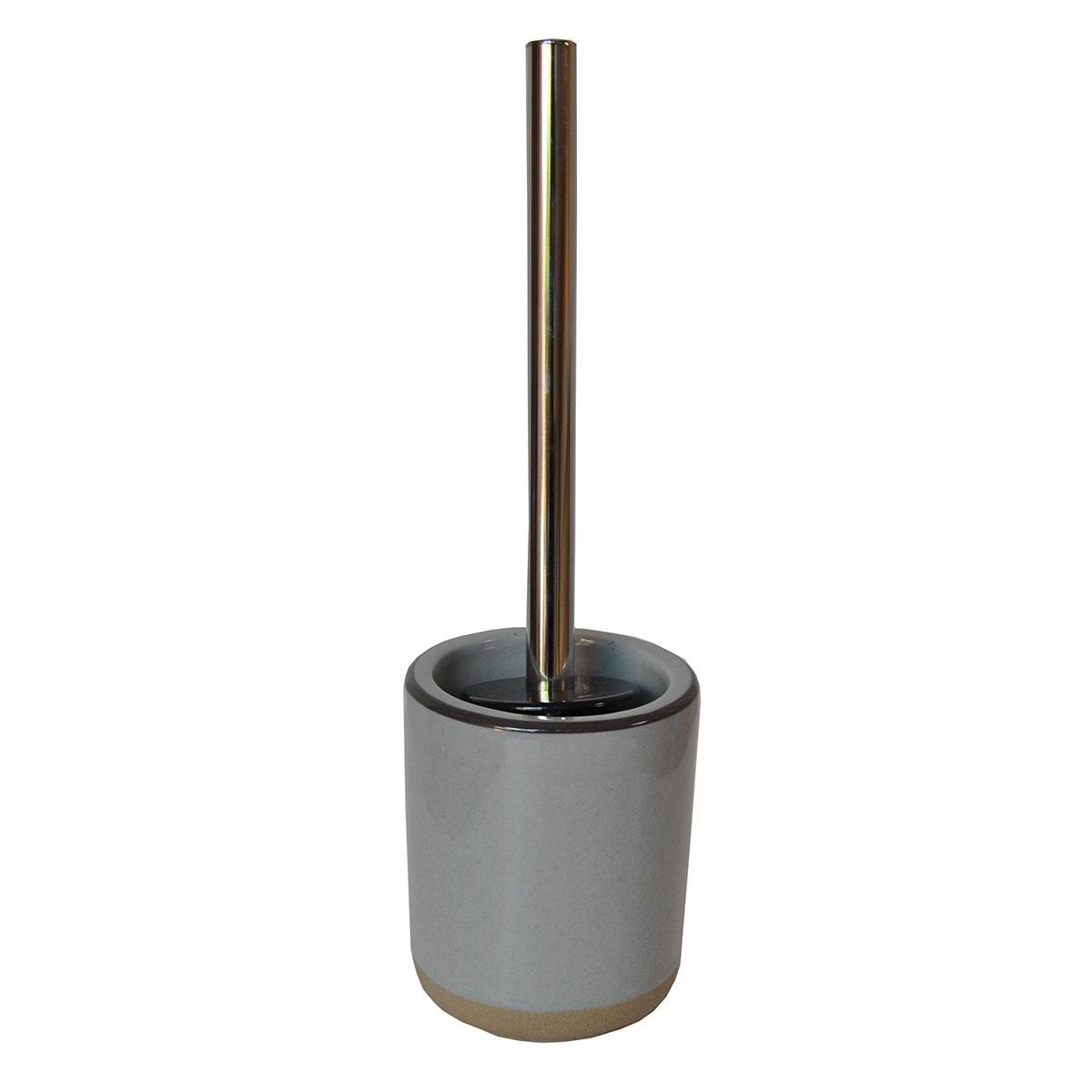Balai de toilette bicolore (Crème/Gris)