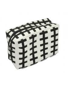 Trousse de toilette à motifs géométriques