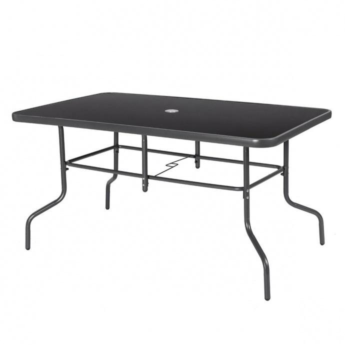 Table de jardin aux pieds design (Gris Foncé)