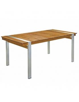 Table rectangulaire en bois et acier