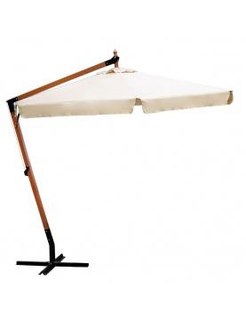 Parasol déporté en bois de Ø 3m