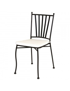 Chaise empilable en fer forgé