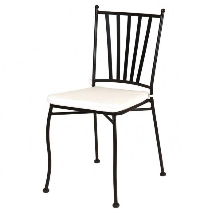 Chaise empilable en fer forgé (Noir)