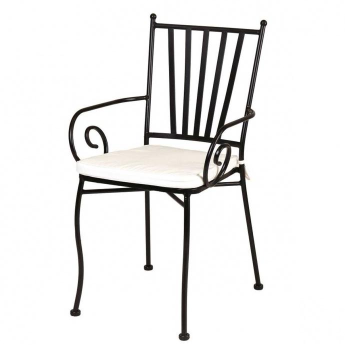 Chaise à bras en fer forgé (Fer forgé)