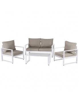 Salon détente en aluminium blanc