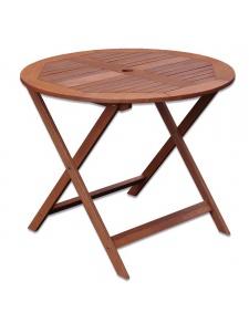 Table ronde en shorea