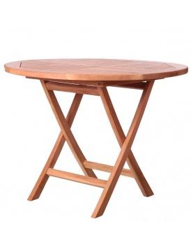Table ronde et pliante en teck