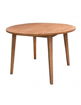 Table ronde en acacia