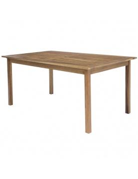 Table rectangulaire d'extérieur en acacia