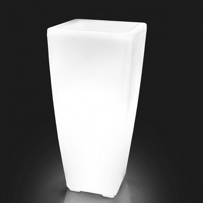 Vase lumineux d'extérieur (Blanc)