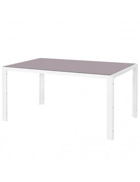 Table de jardin en acier blanc