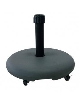 Pied de parasol en ciment et à roulettes