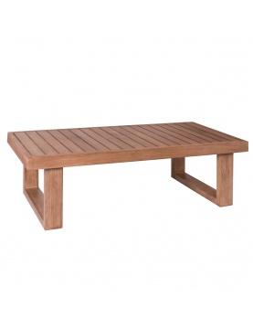 Table basse d'extérieur en acacia