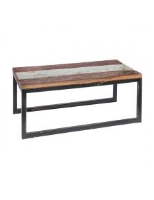 Table rectangulaire en teck coloré