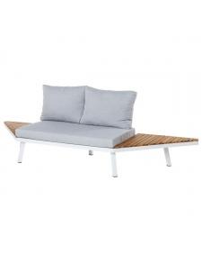 Canapé 2 places à ailettes en acacia