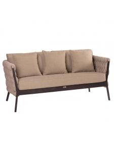 Canapé d'extérieur effet tresses en relief