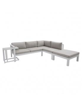 Canapé d'angle avec table latérale