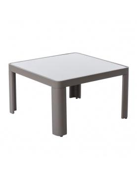 Table basse d'extérieur en aluminium gris