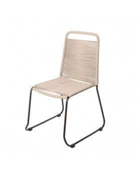 Chaise empilable en corde et acier