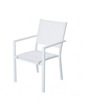 Lot de 4 chaises empilables en aluminium