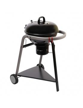Barbecue au charbon de bois avec de 2 modes de cuisson