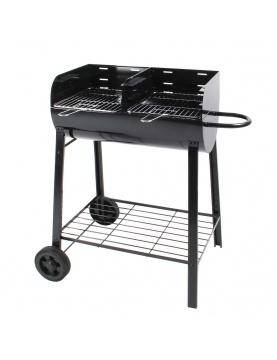 Barbecue à charbon de bois séparé en 2 foyers